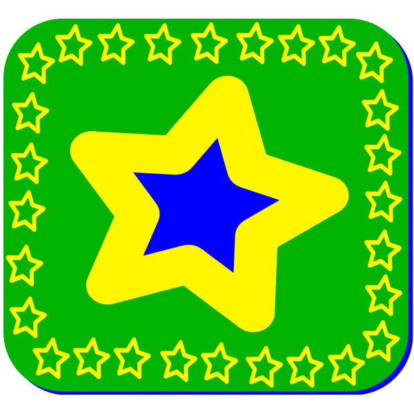 Brazil star vector image