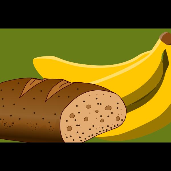 Bread and banana image