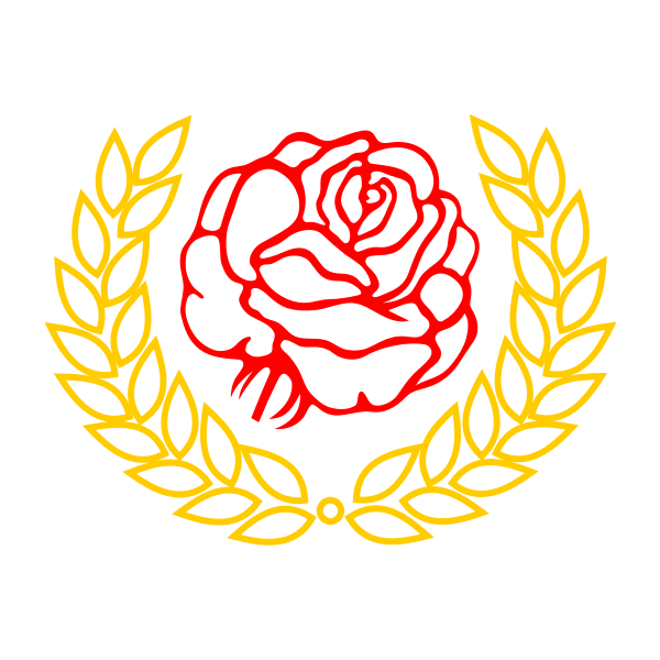 Vector graphics of roses and laurel