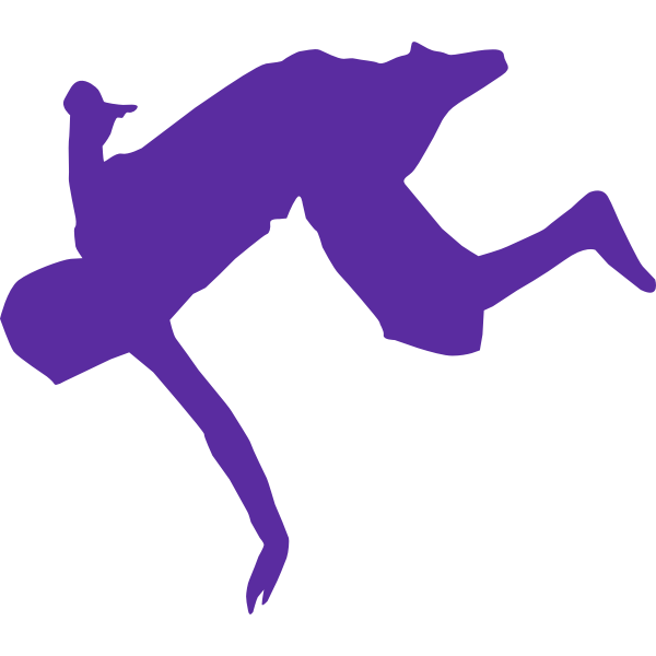 Silhouette of break dancer vector clip art