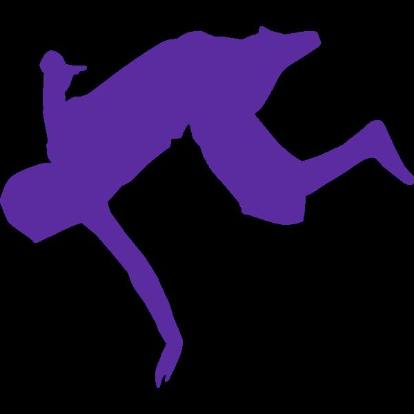 Silhouette of break dancer vector clip art