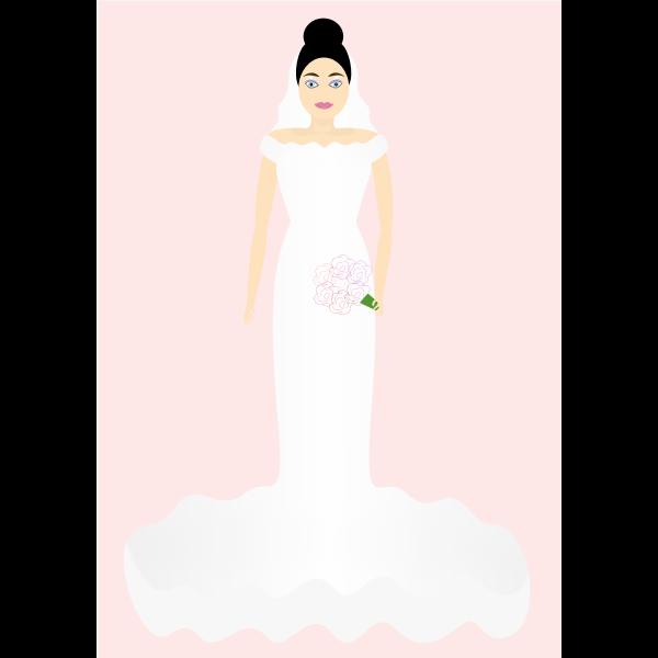 Indian bride vector image