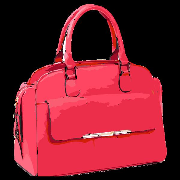 bright pink bag