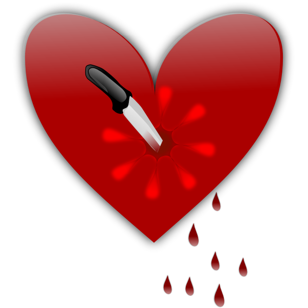 Broken heart vector clip art graphics