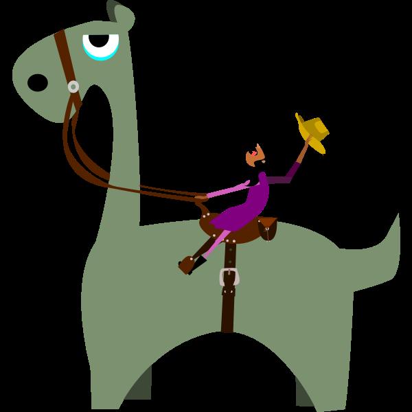 Dinosaur and a girl