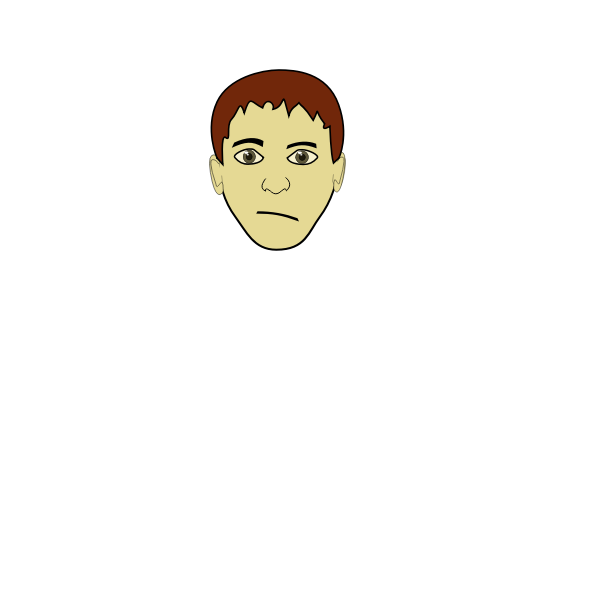 Brown haired boy vector image