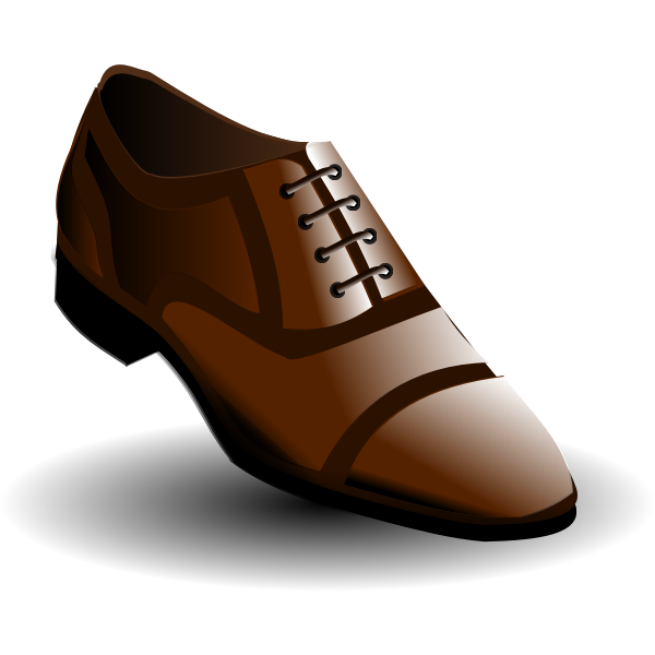Vector illustration of black and brown men's shoes