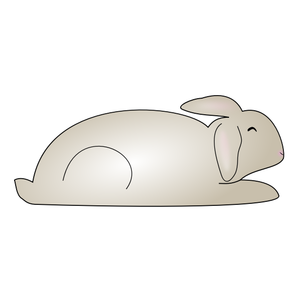 Vector graphics of a bunny