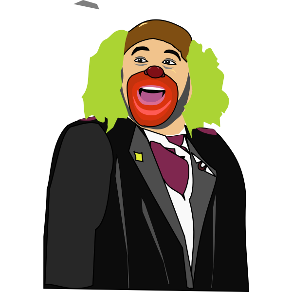 Color vector image of man in a fool's suit
