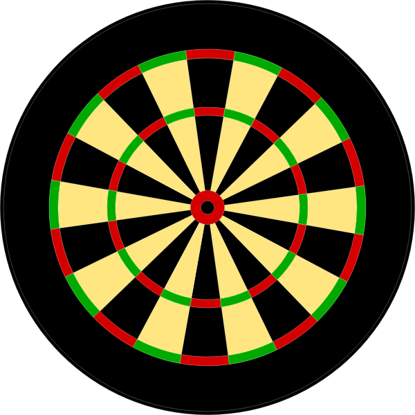 Vector illustration of round darts target