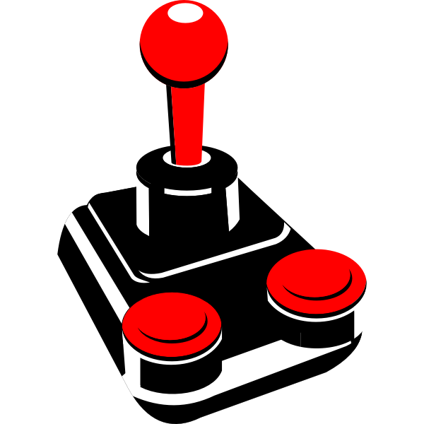 Video game joystick vector drawing
