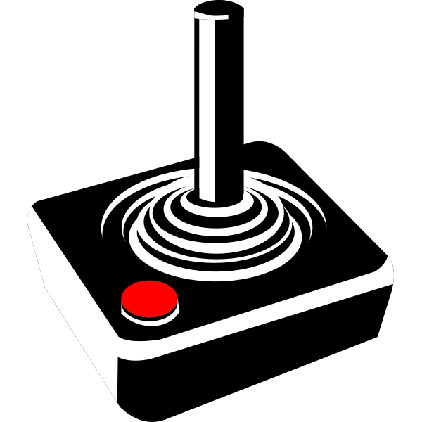 An old joystick vector illustration