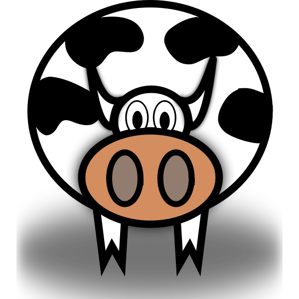 Vector graphics of staring comic cow