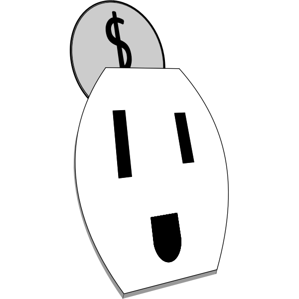 Happy Electrical Outlet Vector Graphics