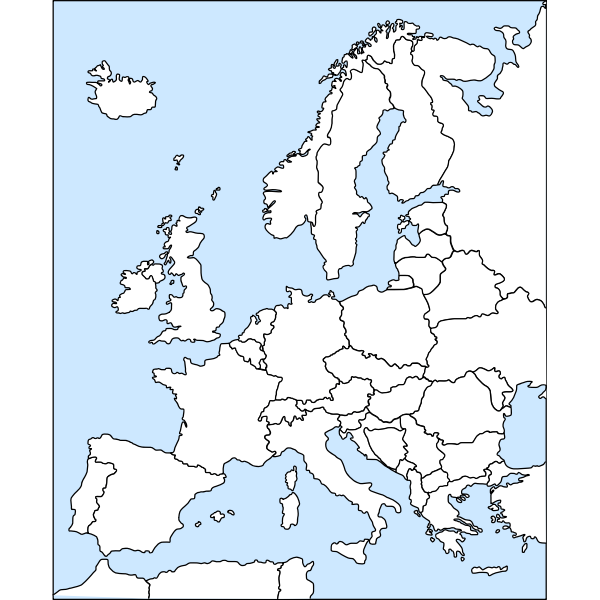 Vector clip art of map of Europe