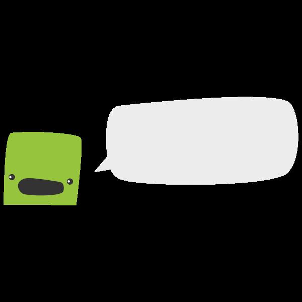 Talking radio vector image