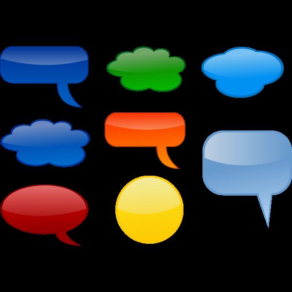 Various speech bubbles vector image