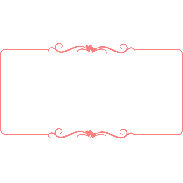 Vector illustration of heart decorated pink border