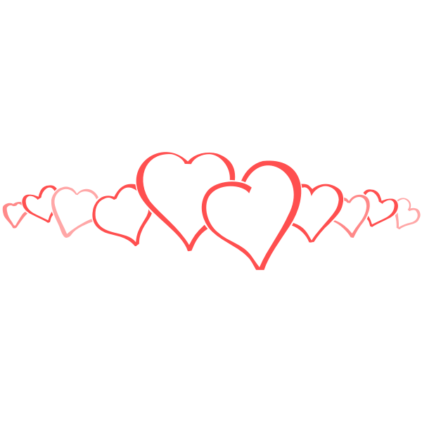 Vector selection of 10 hearts