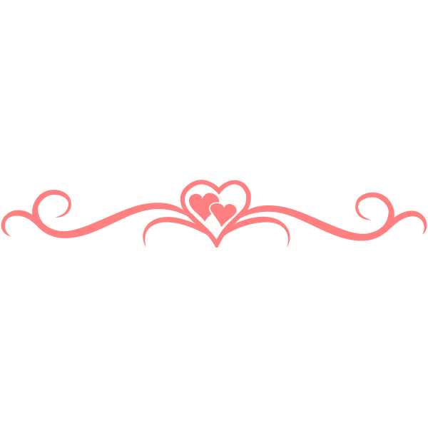 Vector illustration of pink hearts