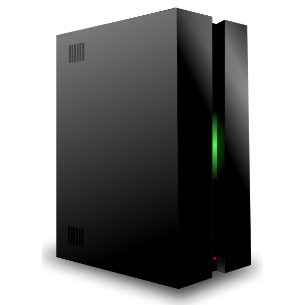 Black server vector drawing