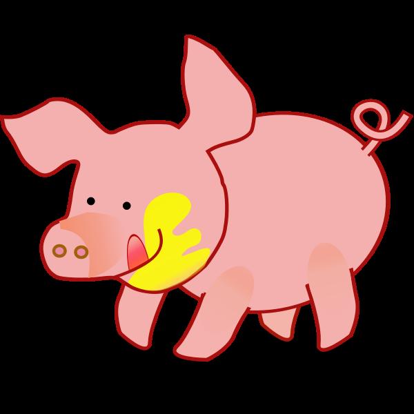 Happy piglet vector image