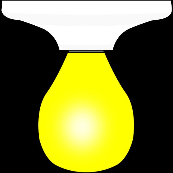 Lightbulb in Ceramic Fixture