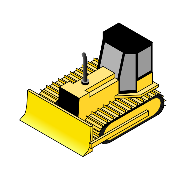 Isometric bulldozer