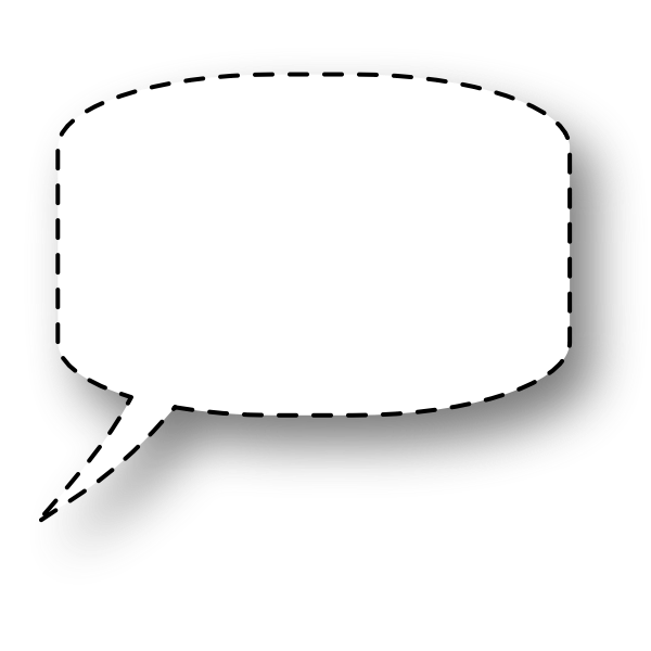 Dotted line speech bubble vector illustration