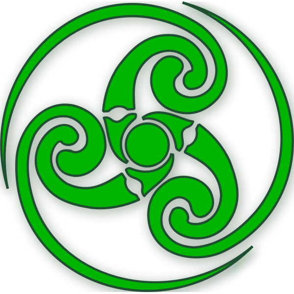 Vector image of wound up Celtic sign