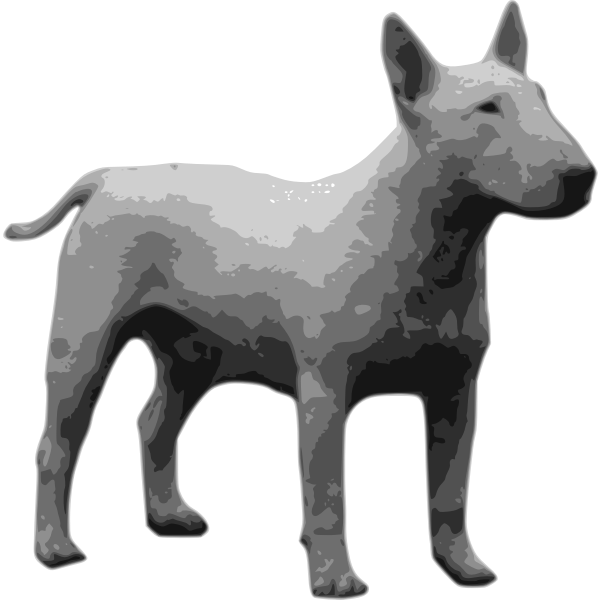 Grayscale vector image bull terrier