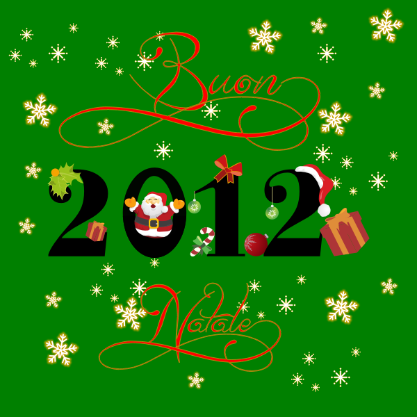 Happy holidays green themed card vector image