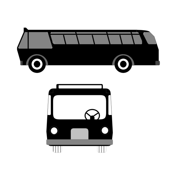Vector image of bus symbol