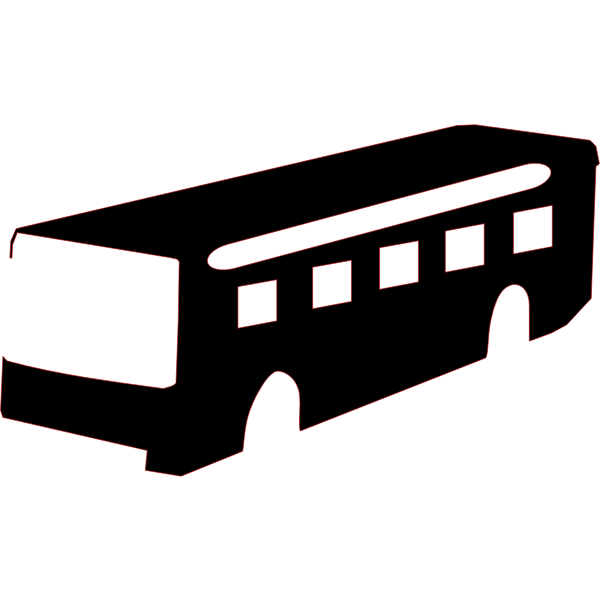 Bus silhouette vector drawing