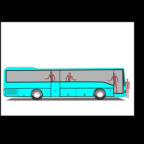 Teal bus image