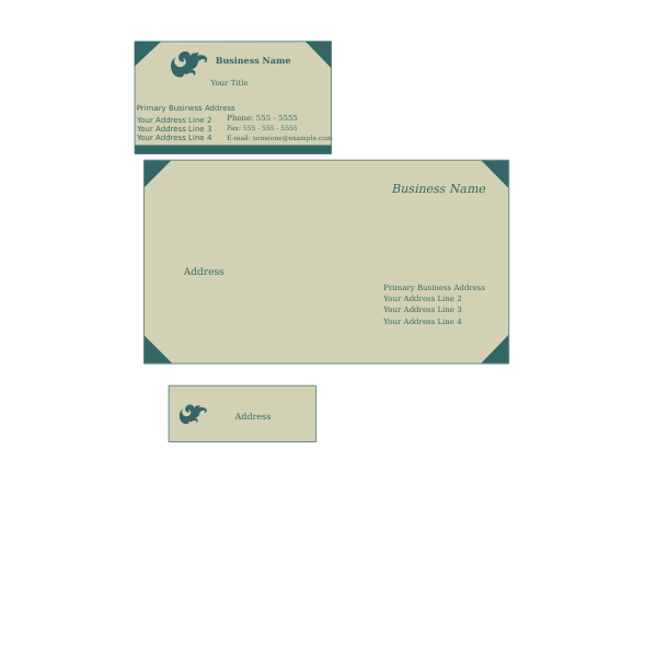 business card envelope label