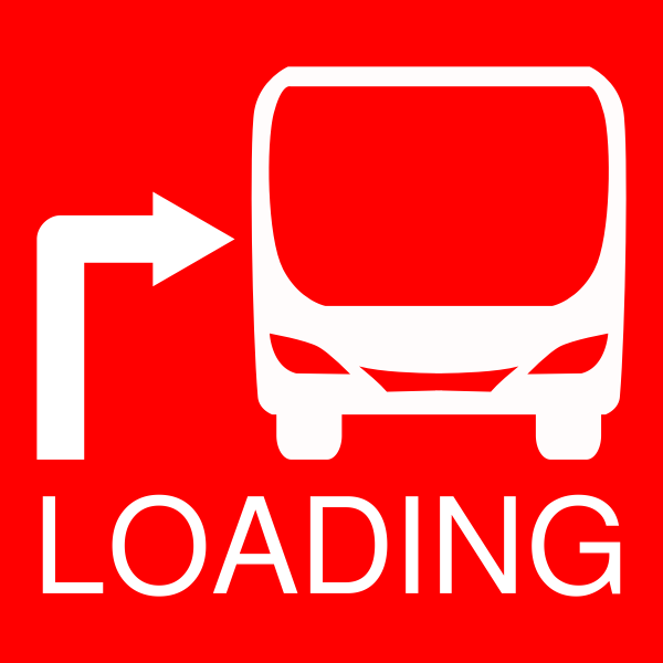 Red bus stop icon