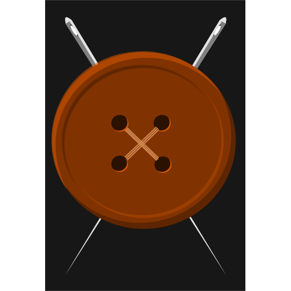Button and needles