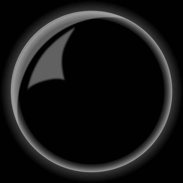 Round shiny black button vector illustration