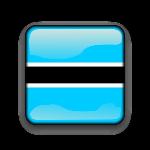 Botswana flag vector