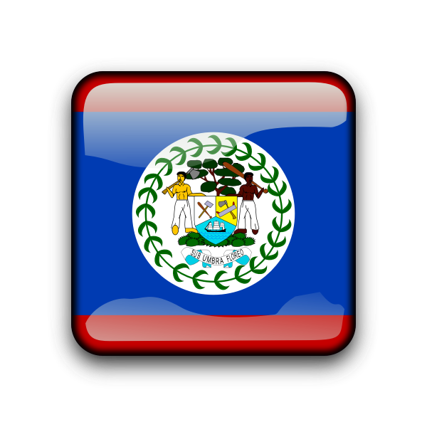 Belize vector flag button