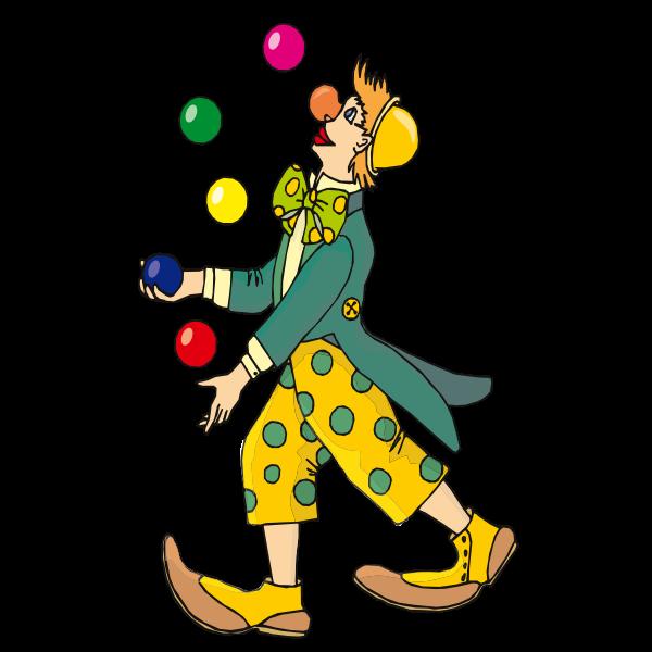 Vector image of juggler clown