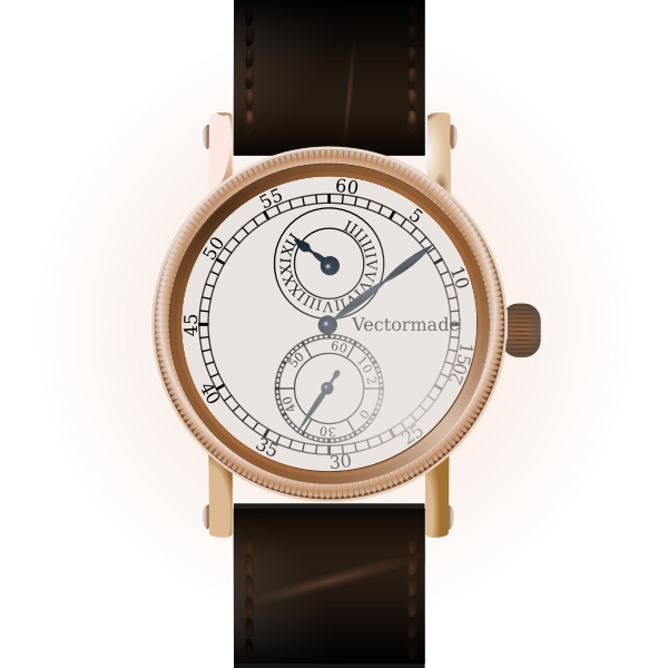 Vector drawing of a classic watch