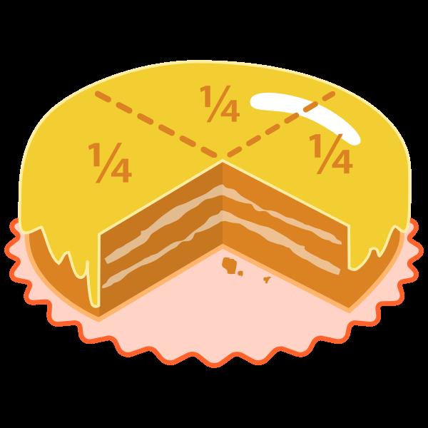 Quartered Cake