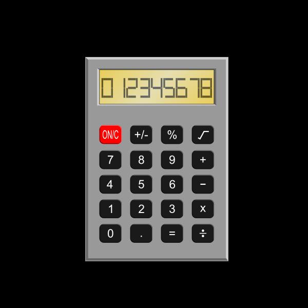 Old calculator vector illustration