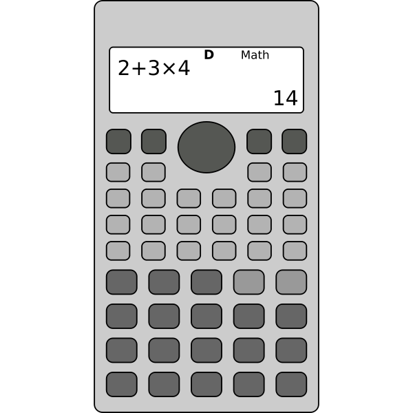 Scientific calculator vector image