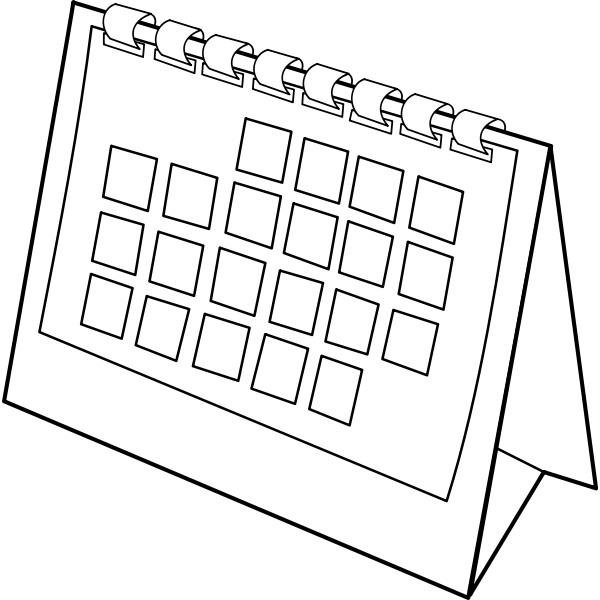 Desk calendar vector illustration