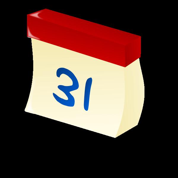 Vector clip art of bended calendar icon