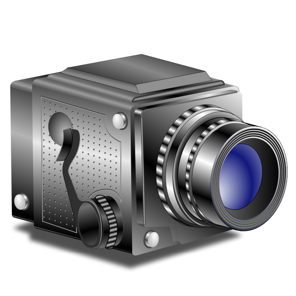 Vector clip art of classic old style manual photography camera