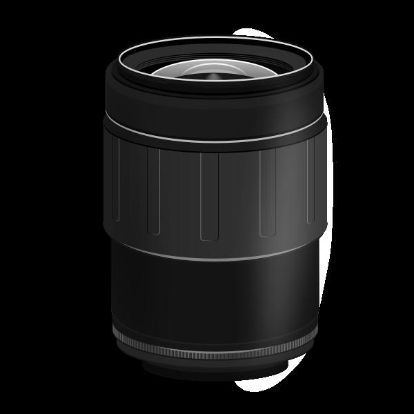 SLR camera lens 28-80mm vector image